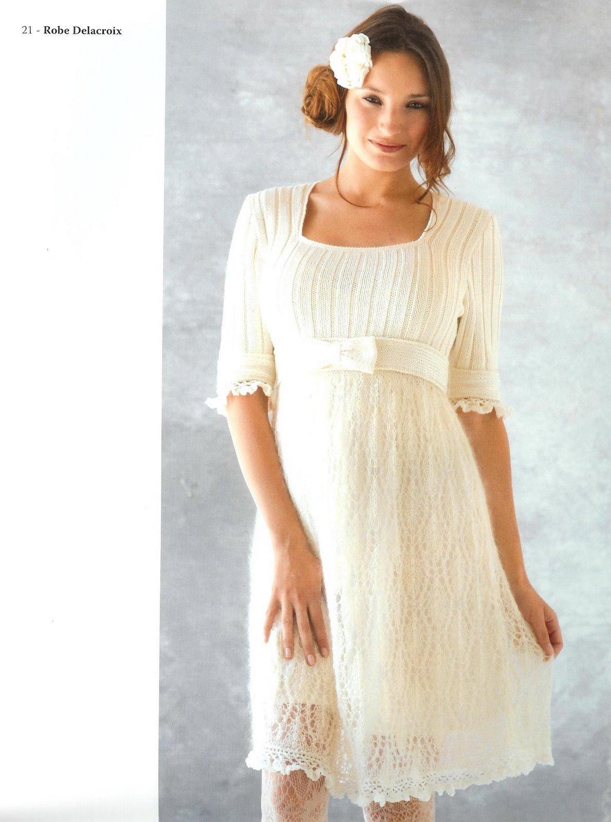 Платья вязание для беременных 44
