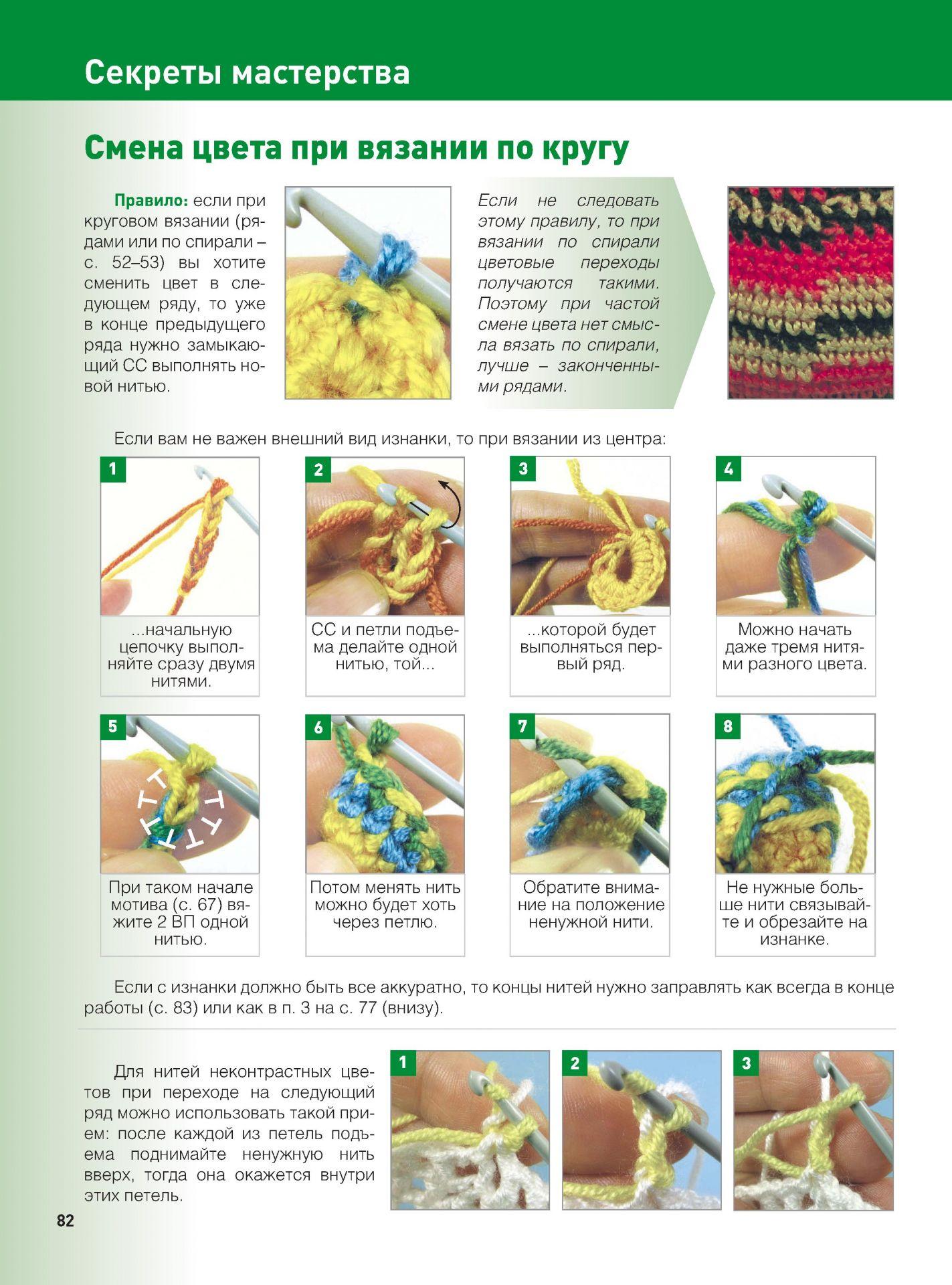 Как сделать переход цвета при вязании