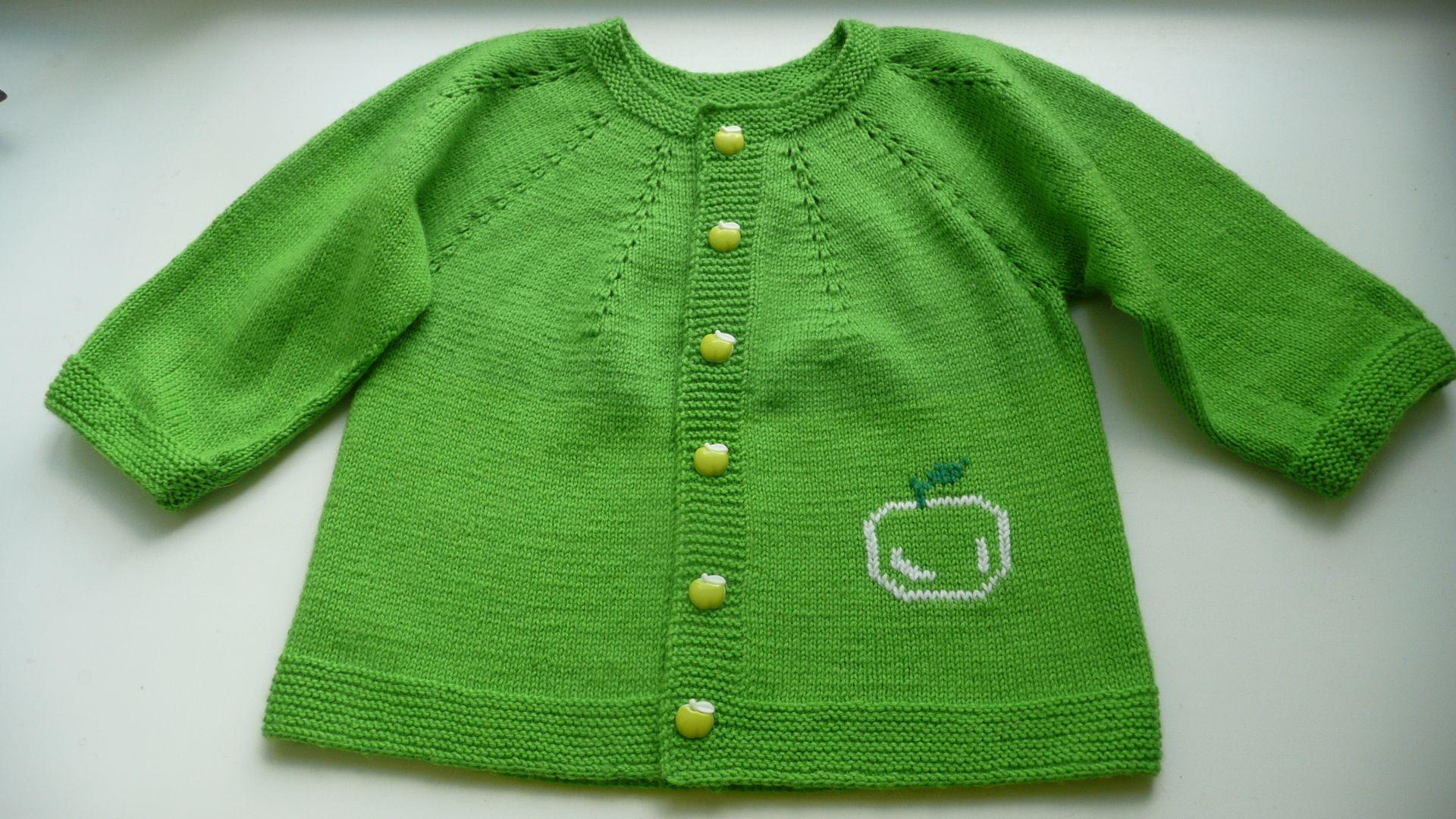 Вязание детский кофта на круглой кокетке
