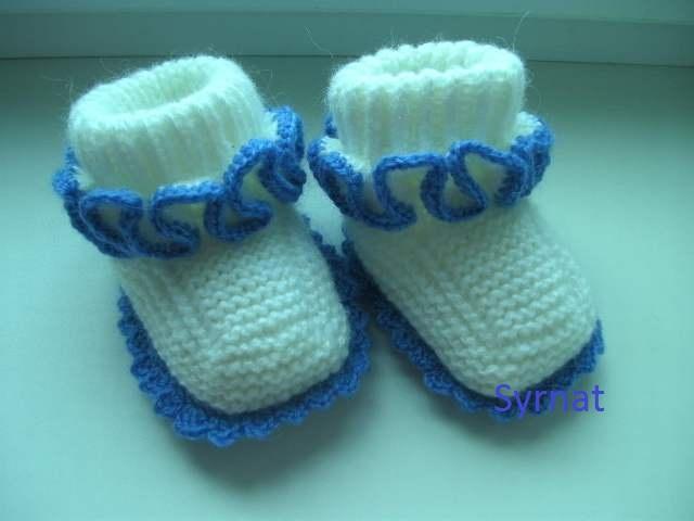 вязание для детей пинетки носки 1